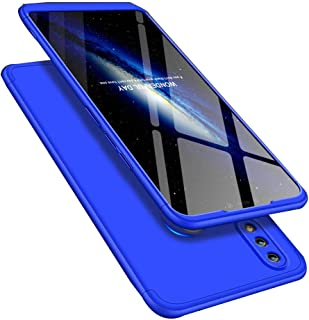 LEECOCO Huawei Honor 8X Max Case Ultra Thin 3 in 1 360 Degree Full Body Case Premium Slim Shockproof Hard PC Plastic Anti-Scratch Bumper Cover for Huawei Honor 8X Max 3 in 1 Blue AR