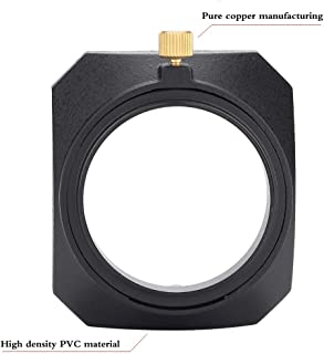 Yisau 46mm Square Metal Screw-in Lens Hood for Leica Summilux-M 35mm f/1.4 50mm/f1.4, 90mm f/2.5 75mm/f2.5, 28mm/F2 E46 ASPH, Voigtlander 35mm f/1.7 Lens Black and Any 49mm Lens Filter