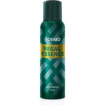 Amazon Brand - Solimo Regal Essence No Gas Body Perfume For Men, 120 ml