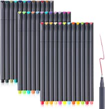Bullet Journaling Pens Set, Taotree Fineliner Colored Sketch Writing Drawing Pens, Porous Fine Point Pens Markers for Planner Note Taking Calendar Coloring Art Projects (30 Vivd Color +6 Neon Color)
