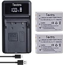 Tectra 2 Pack EN-EL5 Rechargeable Batteries and LED USB Charger for Nikon Coolpix P3, P4, P90, P80, P100, P500, P510, P520, P530, P5000, P6000, S10, 3700, 4200, 5200, 5900, 7900 Digital Cameras