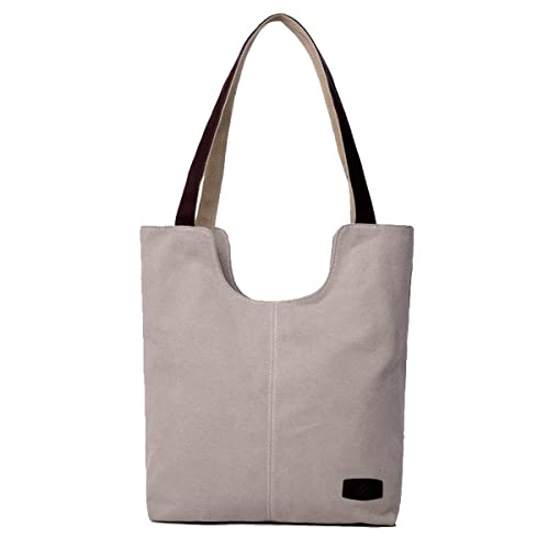 42063340972 Butterme Women s Fashion Vintage Simple Style Canvas Tote Bags Grocery  Shopping Hobo Shoulder Bag Convenient for