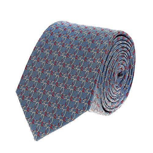 Bruce Field - Cravate en pure soie à motif chaine