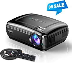 $169 » Video Projector, SOLOVE Full HD Overhead Projectors 1080P Supported,3800L HDMI Movie Projector for Home Theater and Office PowerPoint Presentation Compatible with Laptop,TV Stick,PC,PS4,iPhone
