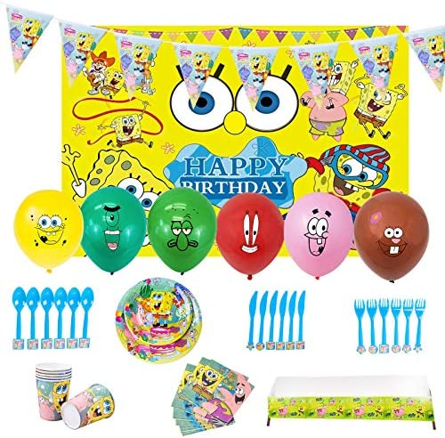 Spongebob Birthday Party Supplies 94 PSC Spongebob Party Decorations Party Favor Includes Balloons product image