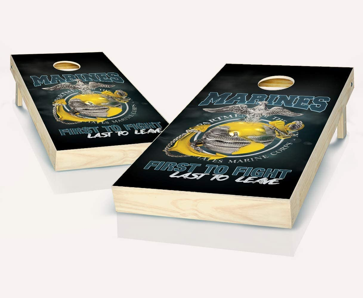 Popular products Tailgating Pros USMC First to Popular brand Fight Set of Boards with Cornhole