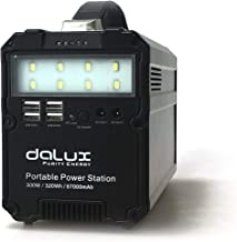 DALUX 300W Portable Power Station, Portable Generator Lithium 87000mAh Battery Pack UPS Power Supply 110V AC Output, 4X USB, 12V DC, LED Flashlight for Camping, Home, Emergency