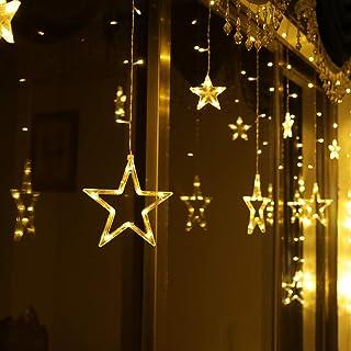 Sternenlicht lichtervorhang led lichterkette warmweiss Sternenvorhang deko außen
