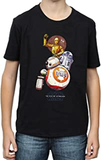 Star Wars Niños The Rise of The Skywalker Droids Illustration Camiseta