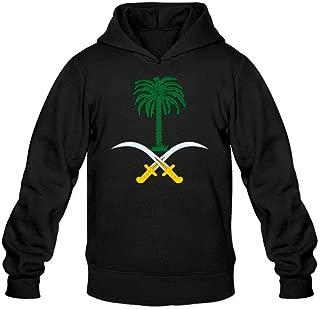 Lindmy Men's Coat Of Arms Of Saudi Arabia Sweatshirts Hoodie