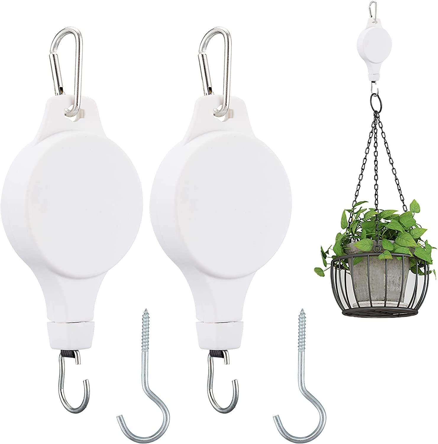 ALSA Cheap mail order sales 2Pcs Adjustable Plant Pulley 2pcs Hanger Metal Ceiling Max 51% OFF with