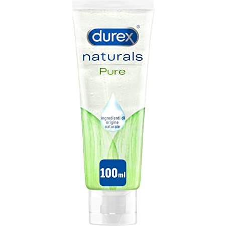 Durex Naturals Gel Lubrificante con 100% Ingredienti Naturali, 100 ml