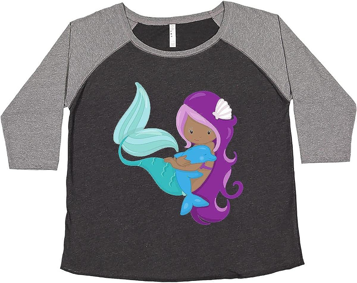 inktastic African American Very popular! Mermaid Purple Women's Si Plus Max 78% OFF Hair