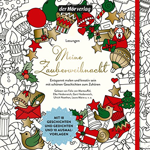 Meine Zauberweihnacht     Entspannt malen und kreativ sein mit schönen Geschichten zum Zuhören              Written by:                                                                                                                                 Joseph von Eichendorff,                                                                                        Joachim Ringelnatz,                                                                                        Wilhelm Busch,                   and others                          Narrated by:                                                                                                                                 Stefan Wilkening,                                                                                        Beate Himmelstoß,                                                                                        Felix von Manteuffel,                   and others                 Length: 1 hr and 15 mins     Not rated yet     Overall 0.0
