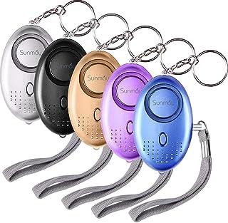 SUNMAY persoonlijk alarm, 5 pakketten 140DB persoonlijk beveiligingsalarm met LED-licht, zelfverdediging noodalarm voor vr...