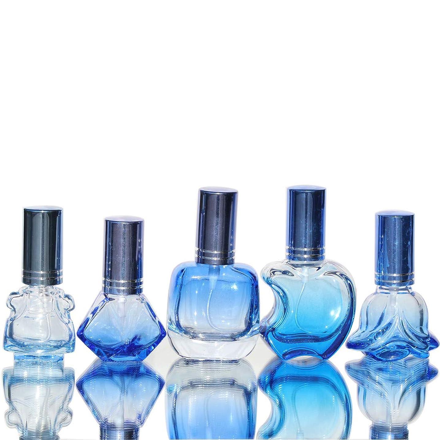 白鳥優遇紳士Waltz&F カラフル ガラス製香水瓶 フレグランスボトル 詰替用瓶 空き アトマイザー 分け瓶 旅行用品 化粧水用瓶