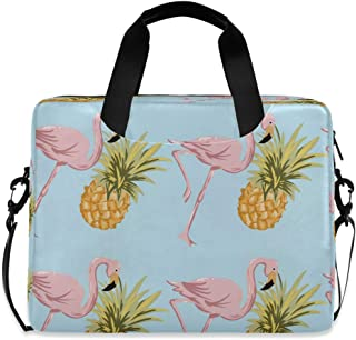 Tropical Pineapple and Flamingo Laptop Case 15.6 Inch Computer Carrying Protective Case with Strap Bag