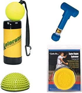 Spin Right Spinner + Power POD + XELERATOR + Ernie Parker's Wrist Snapper Fastpitch Softball Pitching Training Aids Equipment Gear