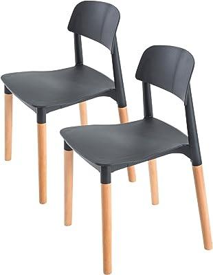 La Bella Replica Belloch Stackable Dining Chair - Black X2