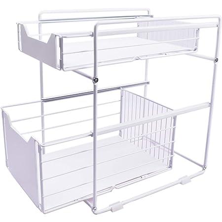 Paniers de rangement de cuisine multi-couches, paniers de rangement de tiroir de rail, dans les armoires, les éviers, le stockage de débris, les matériaux de cuisine, et les aliments