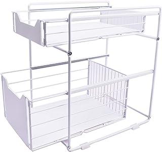 Paniers de rangement de cuisine multi-couches, paniers de rangement de tiroir de rail, dans les armoires, les éviers, le s...