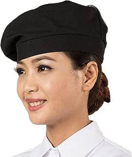 ChefsUniforms Sushi Japanese Black Kitchen Restaurant Waiter Chef Beret hat Cook Cap for Men and Women