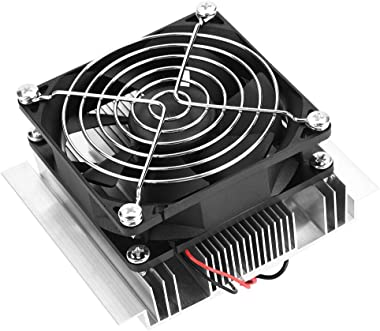 Gransun Thermoelectric Cooler, 12V Thermoelectric Fan, Mini Air Conditioner for Small Fridge Home Cooling Device