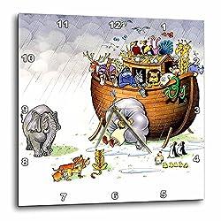 3dRose DPP_869_1 Noahs Ark Wall Clock, 10 by 10-Inch