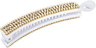 Voylla White and Sparkling Hair Clip Jewellery for Women