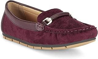 Ceriz Women's Adaline Burgundy Loafers