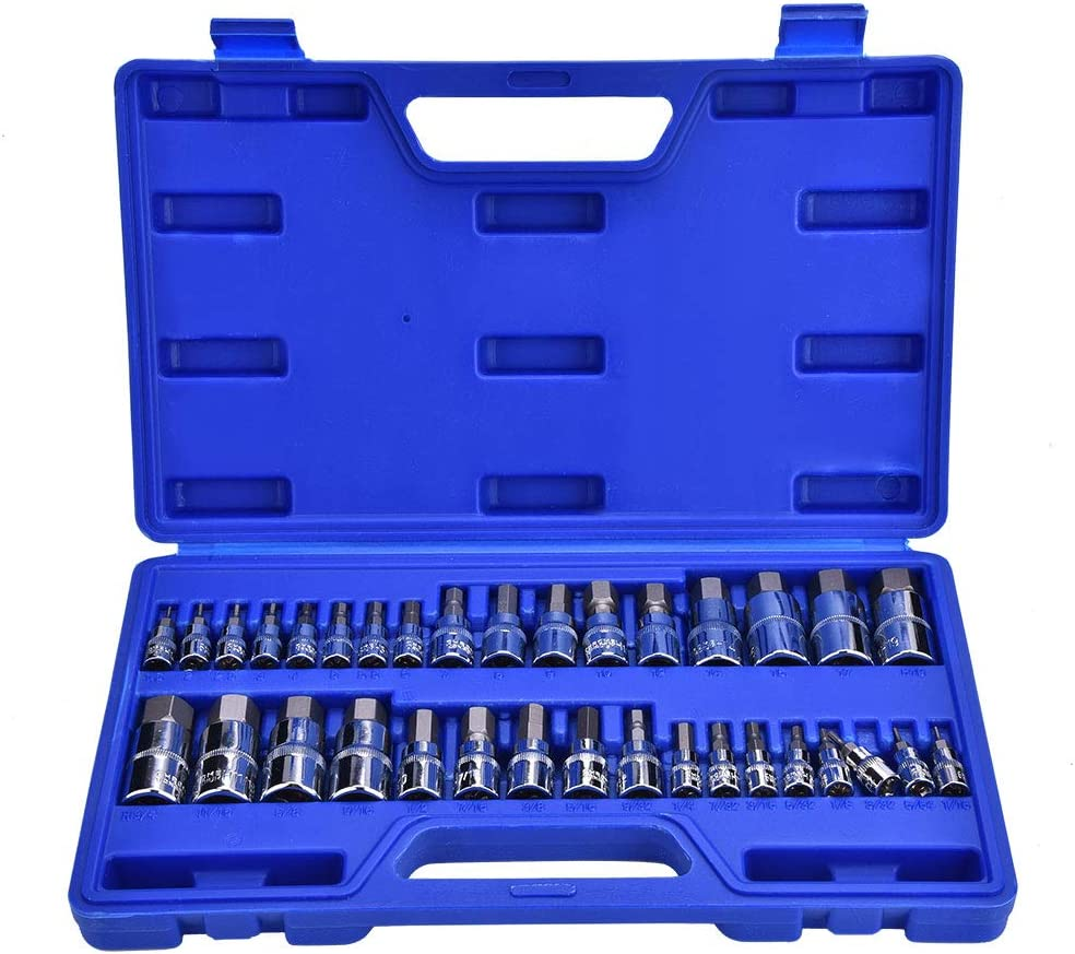 Hex Bit Set - 34Pcs Allen Kit T latest Socket Key Wrench Repair Los Angeles Mall