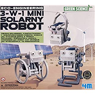 4M 3-in-1 Eco Engineering Mini Solar Robot Toy:Dailyvideo