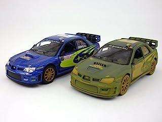 KiNSMART Set of 2 Subaru 2007 Impreza WRC 1/36 Scale Diecast Metal Model - Blue
