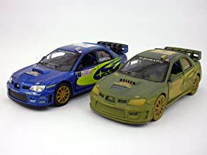 Set of 2 Subaru 2007 Impreza WRC 1/36 Scale Diecast Metal Model - BLUE