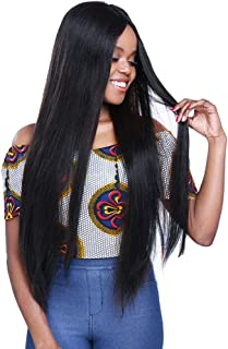 Brazilian Hair Lace Front Wig Human Hair for Black Women Straight Human Hair Glueless Lace Front Wig 130% Density with Baby Hair Virgin Hair Natural Color(14 inch lace front)