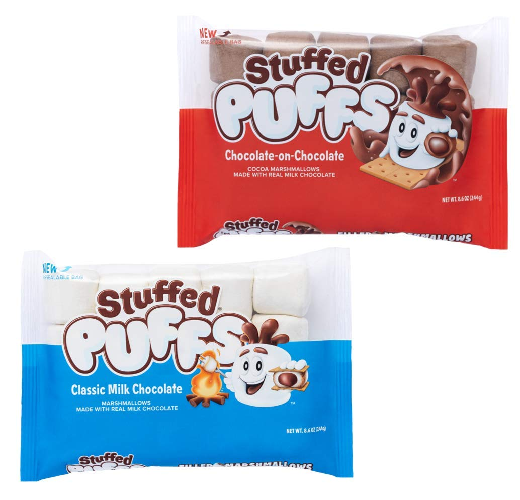 Stuffed Direct stock discount Puffs Limited time cheap sale - Variety 2 Pack with Marshmallows Made Choc Real