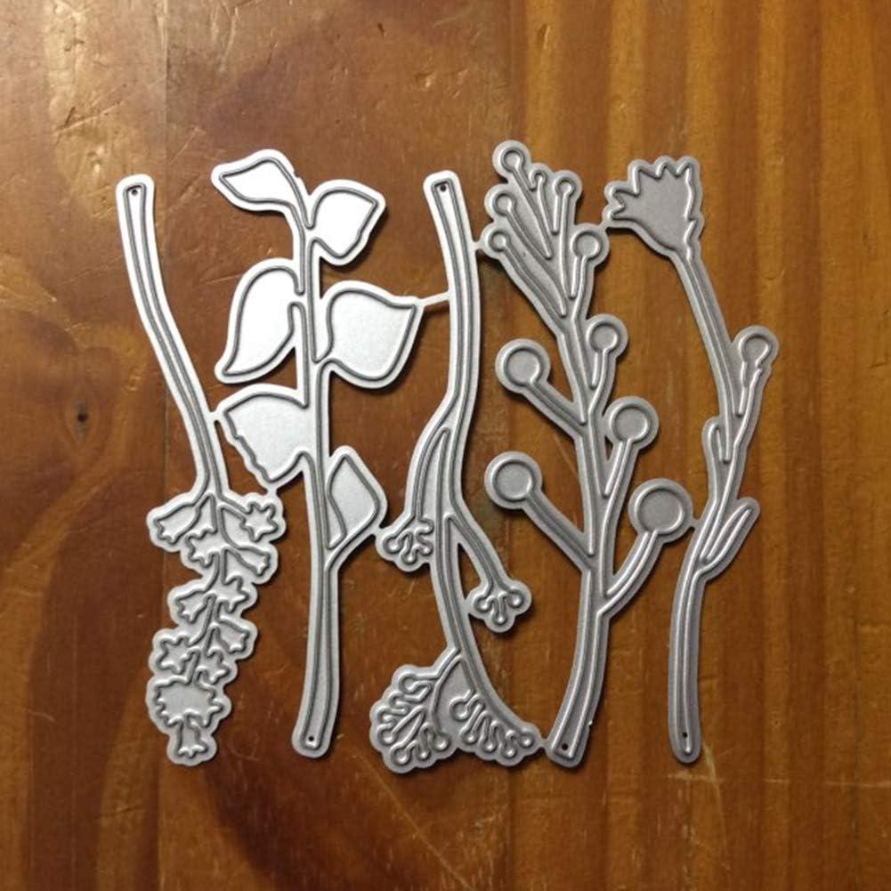 yxsian69g Cutting Dies Die Cuts Flower Leaf Plant Cutting Dies Scrapbook Craft Mold Paper Card DIY Stencil Decor