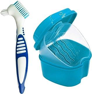 Estuche para Dentadura, Caja para Baño de Dentadura para Ta