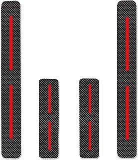 Protectores de Umbral de la Puerta del Coche para Compass Grand Cherokee Patriot Wrangler 4D Vinilo Fibra de Carbono Adhesiva Pegatinas Blanco 4 Piezas