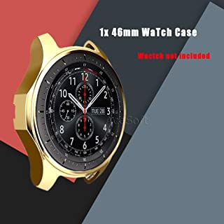 46mm Soft TPU Scratch Proof Shockproof All-Around Protective Bumper Shell for Verizon Samsung Gear S3 Classic SM-R775V