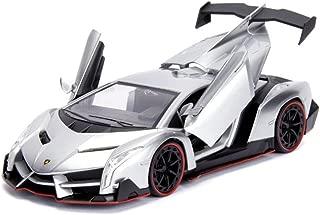 Jada Lamborghini Veneno Candy Silver 1/24 Diecast Model Car