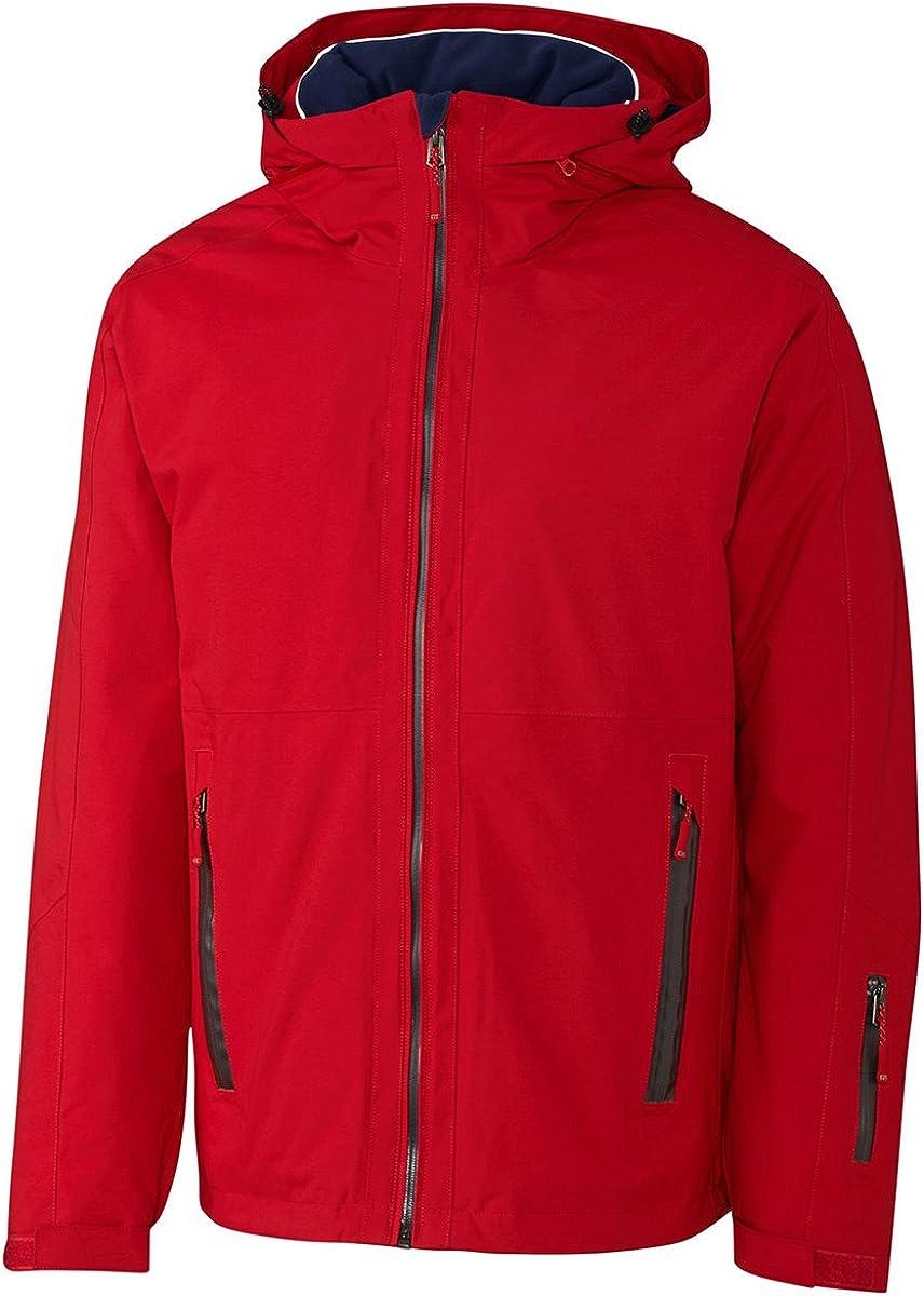 Cutter & Buck Big and Tall Men's Fleece Hooded Jacket, Legacy Red, 4XT