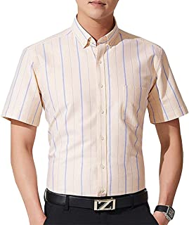 Men's Striped Plaid Button Down Shirts