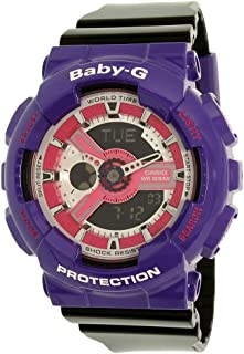 Casio Women's Baby-G BA110NC-6A Purple Resin Quartz Watch