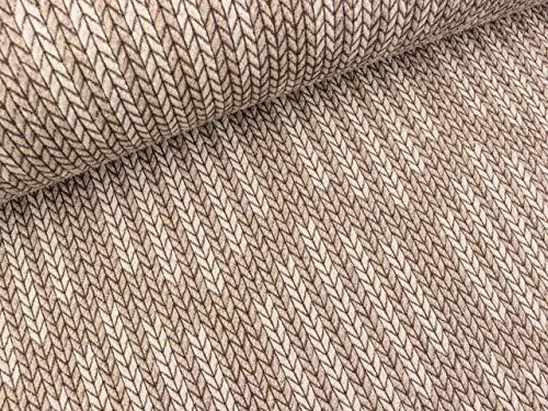 Hamburger amour Knit Knit rosa biostoff Jacquard-Jersey albstoffe biojersey