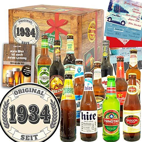 Original seit 1934 + 12 Biersorten aus der Welt + Geburtstagsgeschenk Oma