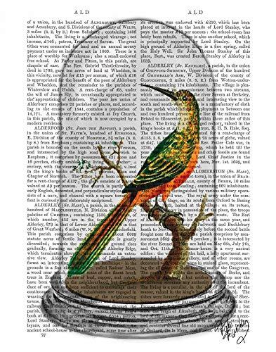 AFDRUKKEN-op-GEROLDE-CANVAS-Bird-In-Bell-Jar-FabFunky-Planten-en-dieren-Afbeelding-gedruckt-op-canvas-100%-katoen-Opgerolde-canvas-print-Kunstdruk-op-gerol-Afmeting-49_X_38_cm