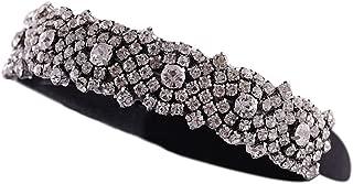 Seehhaaii Wedding Baroque Jewelry Bandana Bride Vintage Rhinestone Flower Headband Crown