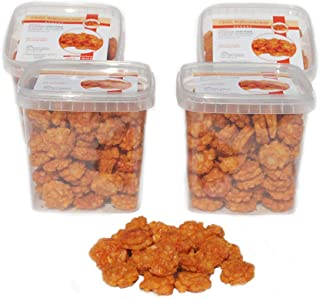 1Kg scharfe Chili-Reiscracker in vier wiederverschließbaren Dosen a 250g.