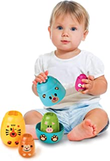 Brinquedo para Bebe Matrioska Animais, Elka, Multicor